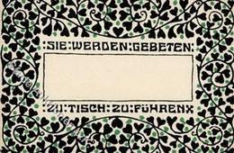 Wiener Werkstätte Tischkärtchen I- - Künstlerkarten