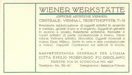 Wiener Werkstätte Werbekarte Niederlassung Italien I- - Künstlerkarten