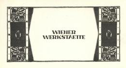 Wiener Werkstätte Werbung/ Visittenkarte (keine Ak Einteilung) Publicite - Künstlerkarten