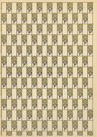 Wiener Werkstätte 1 Bogen Geschenkpapier Rosensignet Entwurf Moser, Koloman U. Hoffmann, Josef I-II - Künstlerkarten