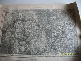 Carte Géographoqie De L'armée BASTIA N°261 54X75cms - Carte Geographique