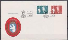 Grönland 1982 FDC Nr.134 - 135 Königin Margarethe II. ( D 4010) Günstige Versandkosten - FDC