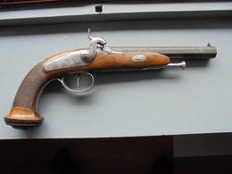 Sublime PISTOLET OFFICIER 1830- 1840 Poinçonné ELG - Decorative Weapons