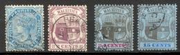 Maurice - 1879 Et 1900/1905 - Yt 58-100-113-117 - Séries Courantes - Oblitérés - Mauritius (...-1967)
