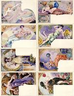 Lessieux. L. Frauen Edelsteine 10'er Serie Künstler-Karten I-II Femmes - Künstlerkarten