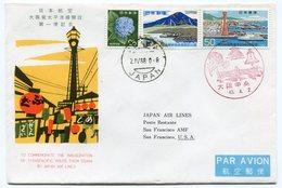 RC 12628 JAPON 1968 FFC OSAKA - SAN FRANCISCO USA  - JAPAN AIR LINES JAL 1ER VOL TB - 1926-89 Emperor Hirohito (Showa Era)