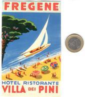 ETIQUETA DE HOTEL  -  HOTEL RISTORANTE VILLA DEI PINI  -FREGENE  -ITALIA - Etiquetas De Hotel