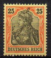 GERMANY REICH : B052  -  1902  Fine Mint  25 P.  -  Yvert  € 85 - Nuovi