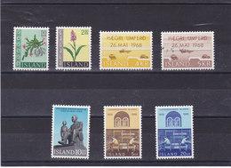 ISLANDE 1968  Yvert 370-371 + 374-378 NEUF** MNH - 1944-... Republique