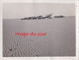 Photo Ancienne  AVIATION  BIVOUAC ENTRE TINDOUF ET TOMBOUCTOU JANVIER 1935 AVION - Aviation