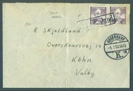 GREENLAND. 1950 (5 July). GPO - Kopenhagen - Valby. Ship Mail Fkd Env 20ore Rate. Fine. - Groenland