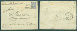 GERMAN COL-CAMERUN. 1885. Quittah (Keta, Gold Coast) - Germany. Altona (21 Nov 85). 20pf Blue Adler Shield Issue Box Aus - Germany