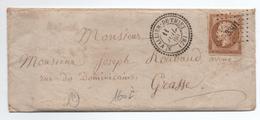 1860 - LETTRE Avec CACHET PERLE TYPE 22 De SAINT VALLIER DE THIEY (ALPES MARITIMES / VAR) & PC 3301 - 1849-1876: Periodo Clásico