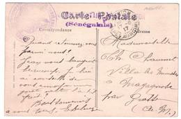 """1917 - GRIFFE """" HOPITAL COMPLÉMENTAIRE N° 52 (SÉNÉGALAIS) """" + CACHET MILITAIRE MEDECIN CHEF Sur CP Avec TAD MENTON WW1 - Poststempel (Briefe)"""
