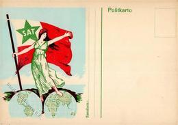 Esperanto SAt Frau Flagge I-II - Esperanto