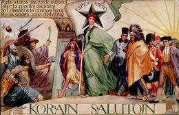 Esperanto Sign. Sikojan, K. A. Künstlerkarte I-II - Esperanto