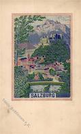 Seide (gewebt) SALZBURG I-II Soie - Ansichtskarten