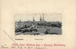 Seide Coventry Großbritannien Gewebt Künstlerkarte I-II Soie - Ansichtskarten
