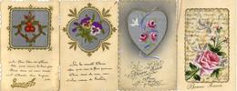 Seide Gestickt Bemalt Lot Mit 10 Glückwunsch-Karten I-II Soie - Ansichtskarten