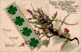 Seide Gestickt Kleeblätter 1901 I-II (fleckig) Soie - Ansichtskarten