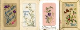 Seide Gestickt Lot Mit 12 Glückwunsch-Karten I-II (fleckig) Soie - Ansichtskarten