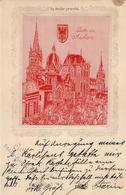 Seide Gewebt Aachen (5100) Dom 1902 I-II (fleckig) Soie - Ansichtskarten