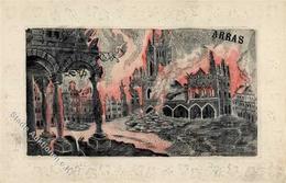 Seide Gewebt Arras Künstlerkarte I-II Soie - Ansichtskarten