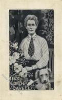 Seide Gewebt Cavell, Edith Künstlerkarte I-II Soie - Ansichtskarten