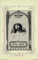 Seide Gewebt Ecce Homo Künstlerkarte I-II Soie - Ansichtskarten