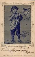 Seide Gewebt Ein Pfiffikus 1900 I-II (Marke Entfernt) Soie - Ansichtskarten