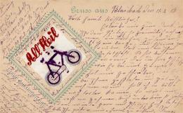 Seide Gewebt Fahrrad  1918 I-II Cycles Soie - Ansichtskarten