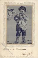 Seide Gewebt Kind  Künstlerkarte 1899 I-II (Marke Entfernt) Soie - Ansichtskarten