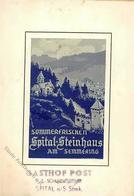 Seide Gewebt Sommerfrischen Spital Steinhaus Am Semmering I-II (fleckig) Soie - Ansichtskarten