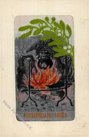 Seide Gewebt Weihnachten Künstlerkarte I-II Noel Soie - Ansichtskarten