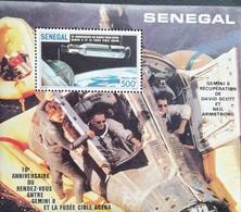 Senegal  1987 Agena-Gemini 8 Link-up In Outer Space S/S - Senegal (1960-...)