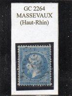 Haut-Rhin - N° 22 Obl GC 2264 Massevaux - 1862 Napoléon III