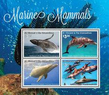 St Vincent 2016 - Mammifères Marins, Baleines, Dauphins - BF 4 Val Neufs // Mnh - St.Vincent & Grenadines