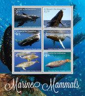 St Vincent 2016 - Mammifères Marins, Baleines, Dauphins - BF 6 Val Neufs // Mnh - St.Vincent & Grenadines