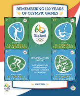 St Vincent 2016 - Jeux Olympiques, Rio 2016, Sports Divers - BF 4 Val Neufs // Mnh - St.Vincent & Grenadines