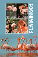 St Vincent 2015 - Faune, Flamands Roses - BF 4 Val Neufs // Mnh - St.Vincent & Grenadines