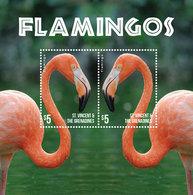 St Vincent 2015 - Faune, Flamands Roses - BF Neufs // Mnh - St.Vincent & Grenadines