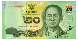 THAILAND 20 BAHT ND(2017) Pick 130 Unc - Thailand