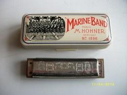 Harmonica N°1896 M.HOHNER MARINE BAND 10 Trous TBE - Musical Instruments