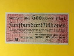 Deutsch Luxemburgische Bergwerks Und Hütten AG / Mülheim An Der Ruhr - 500 Millionen Mark - Luxemburg