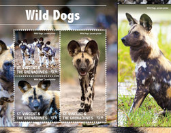 St Vincent 2015 - Faune, Chiens Sauvages - BF 3 Val Neufs // Mnh - St.Vincent & Grenadines