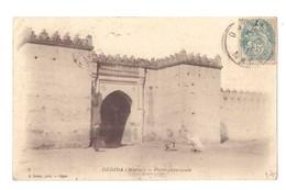 CPSM. Maroc. Oujda. Bab. Porte Principale. Cachet Marocain Sur Timbre Français Type Blanc. - Altri