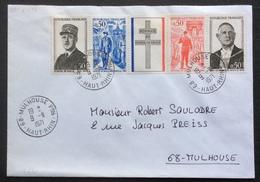 V241 Mulhouse FDC Premier Jour Bande Général De Gaulle 1695 à 1698 9/11/1971 - 1970-1979