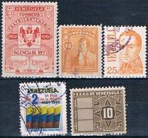 Venezuela 1947 / 82  -  Michel   271 + 526 + 972 + 1107 + Fiscal  132  ( Usados ) - Venezuela
