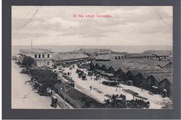CEYLON Colombo, At The Warf Ca 1910 OLD POSTCARD - Sri Lanka (Ceylon)