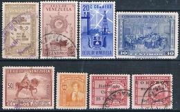 Venezuela 1948 / 52  -  Michel   271 + 318 + 338 + 357 + 372 +  AEREOS  265 + 308  ( Usados ) - Venezuela